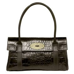Mulberry East West Bayswater in Chocolate printed leather