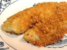 Pork rind breading for fish Baked Tilapia Recipes, Fish Recipes, Seafood Recipes, Cooking Recipes, Keto Recipes, Seafood Meals, Seafood Appetizers, Atkins Recipes, Paleo Meals