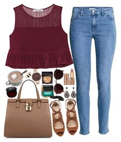 """""""❤"""" by polinachaban ❤ liked on Polyvore featuring H&M, Zara, Elizabeth and James, Laura Mercier, Dolce&Gabbana, Marc Jacobs, tarte, Ray-Ban and Olivia Burton"""