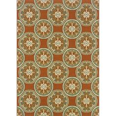 Shop for Orange/ Ivory Outdoor Area Rug (3'7 x 5'6). Get free shipping at Overstock.com - Your Online Home Decor Outlet Store! Get 5% in rewards with Club O!