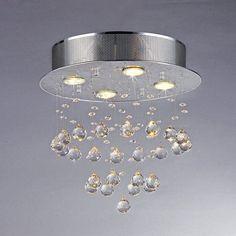 Warehouse of Tiffany Marks RL5676 Crystal Flush Mount Light | from hayneedle.com