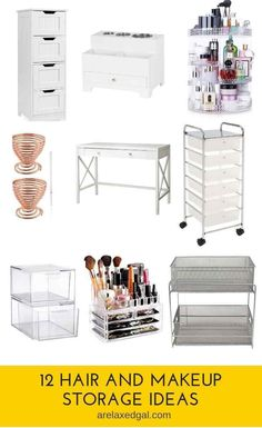 12 Storage Ideas For Your Hair & Makeup Products – Make up Artist Hair Product Storage, Hair Product Organization, Makeup Organization, Storage Organization, Bathroom Organization, Beauty Essentials, Hanging Makeup Organizer, Makeup Revolution Eyeshadow, Revolution Highlighter