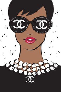 Chanel Lady II Canvas Art Print by Martina Pavlova
