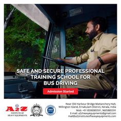 A2Z provides training to become a safe and professional bus driver with highest standards.  A2Z Institute of Heavy Equipments & Driving School ☎️8590085591 📞9605885591 📧mail@a2zinstituteofheavyequipments.com #a2zinstituteofheavyequipment #drivingschool #drivinginstructor #busdriver #bus #busdriverlife Harbor Bridge, Driving Instructor, Training School, Bus Driver, Heavy Equipment, How To Become, Life