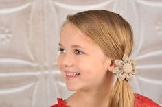 Stone Kanzashi Fabric Flower-Available in 4 Styles