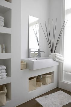 Small bathroom mirrors – If your bathroom is small and you want it to look bigger Midcentury modern bathroom Ikea bathroom Powder room Bathroom inspiration Specchio bagno Mirror ideas Open Bathroom, Attic Bathroom, Bathroom Spa, Bathroom Ideas, Bathroom Furniture, Bathroom Plans, Brown Bathroom, Bathroom Cabinets, Serene Bathroom