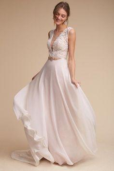 Ivory/blush Taryn Gown   BHLDN