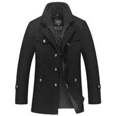 Slim Fit Wool Overcoat
