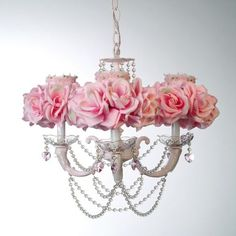 Adorable shabby chic chandelier