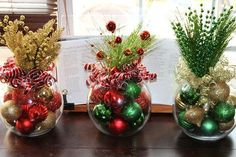 Christmas Centerpiece, Set of four, Christmas Centerpieces, Corporate holiday party, Corporate christmas party centerpieces Choose any … Simple Christmas, Beautiful Christmas, Christmas Time, Christmas Wreaths, Christmas Coffee, Prim Christmas, Christmas Images, Christmas Ornament, Ornaments