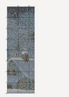 los gráficos del gato: PAPA NOEL MURO Christmas Embroidery, Christmas Stockings, Skyscraper, Multi Story Building, Cross Stitch, Places, Father Christmas, Santa Cross Stitch, Walls