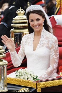 Kate Middleton shied far away from stuffy wedding hair with her soft, simple style.   - HarpersBAZAAR.com