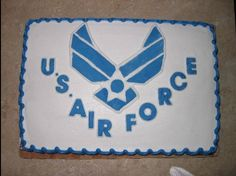Made a cake similar to this one for Paul before he left for BMT.