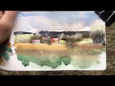 A quick watercolor plein air sketch - YouTube