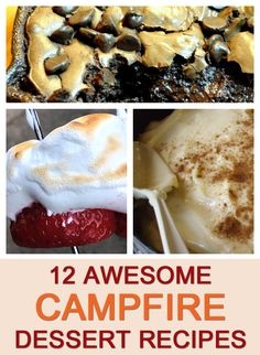 12 Awesome Campfire Dessert Recipes for Camping- I am going to do the banana one on our next camping trip!
