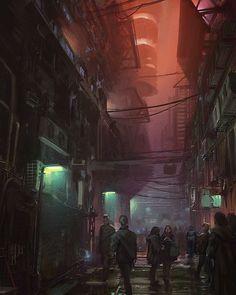 Dark under streets sci-fi interior lighting киберпанк, апока Cyberpunk 2077, Ville Cyberpunk, Cyberpunk City, Futuristic City, Sci Fi City, Underground Cities, Steampunk, Environment Concept Art, Fantasy Landscape