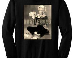 cae576bb85c Bad Beyhavior - Hustle Gang - Marilyn Monroe - Black Sweatshirt - Plus  Sizes Marilyn Monroe