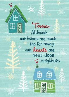 Heartfelt Neighbors - Christmas Greeting Cards in Bay | Hallmark Personalized Christmas cards from Treat.com