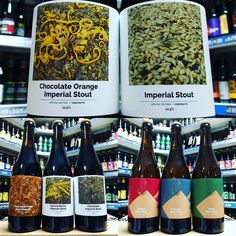 New 75cl Xmas sharing bottles from @cloudwaterbrew in stock now  Imperial Stout 11.5% Chocolate Imperial Stout 11.5% Spiced Mocha Imperial Stout 11.5% Chocolate Orange Imperial Stout 11.5% Foudre Aged Chocolate Porter 7% François BA Biere Brut 6% Damy BA Biere Brut 6% Seguin BA Biere Brut 6%