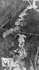 1938 aerial photo of Hwy 166/92 North of Campbelton to Fairburn RD