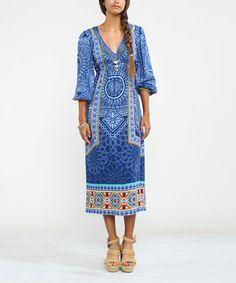 Another great find on #zulily! Navy Geometric Midi Dress #zulilyfinds $29.99