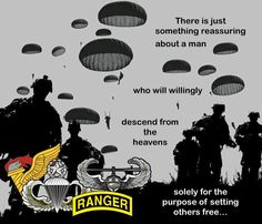 Airborne Army, Airborne Ranger, 82nd Airborne Division, Army Infantry, Military Quotes, Military Humor, Military Life, Army Life, Us Army Rangers