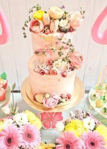 07b162b3be1 Cake from a Spring Flamingo Birthday Party via Kara s Party Ideas -  KarasPartyIdeas.com (