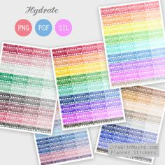 Daily and Weekly Hydrate Stickers for your planner!