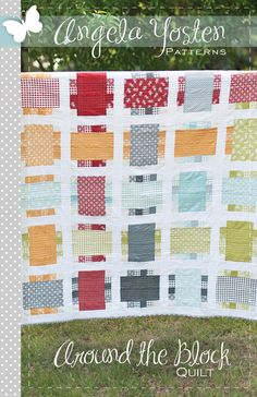 Around the Block Quilt Pattern - PDF Version