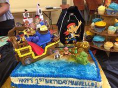 Jake and the neverland pirate birthday cake