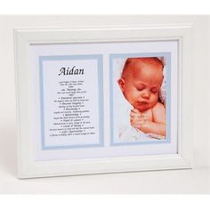 Townsend FN04Aedan Personalized First Name Baby Boy & Meaning Print - Framed, Name - Aedan, As Shown