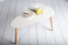 Pear Coffee Table – White