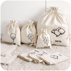 Cotton Drawstring Bags, Cotton Bag, Cotton Muslin, Cotton Canvas, Bag Packaging, Packaging Design, Packaging Ideas, Merchandise Bags, Cotton Shopping Bags
