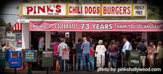 Pinks Hot Dogs - A Hollywood Legend Since 1939 and a favorite among Southern California residents...
