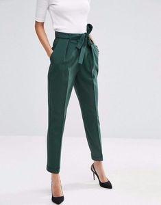 d231ec594 Loving the high waisted look with the bow! Trousers High Waisted, Peg Leg  Trousers