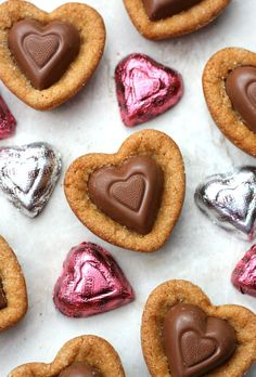 Heart Peanut Butter Blossom Cookies - Happy-Go-Lucky