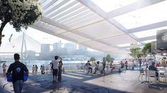 Plans for the Sydney Fish Market revealed #australia #3XN #BVN #architecture #landscape architecture #Aspectstudios