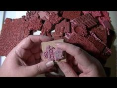 RUNNING OUT OF ROOM TO STORE YOUR MOUNTED RUBBER STAMPS? Or do you just want to be able to use them in your embossing machine? ▶ Unmounting Wood Mount Rubber Stamps - YouTube. I really searched for this one!