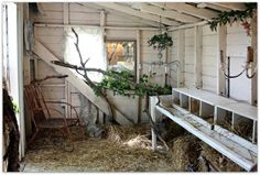 I could sooo have fun with Grandma's chicken coop up on the farm.  From the Karla's Cottage blog.