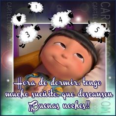 Tengo mucho sueñito Good Morning Quotes For Him, Good Morning Inspirational Quotes, Good Night Quotes, Good Night Moon, Good Morning Messages, Beautiful Gif, Real Life Quotes, Despicable Me, Spanish Quotes