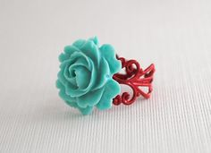 *The lovely rose on my finger #Cyan