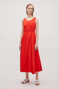 COS image 6 of Flared sleeveless dress in Signal Red
