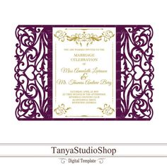 Wedding Invitations Diy Handmade, Cricut Wedding Invitations, Royal Invitation, Invitation Cards, Wedding Cards, Wedding Gifts, Wedding Ideas, Laser Paper, Vinyl Crafts