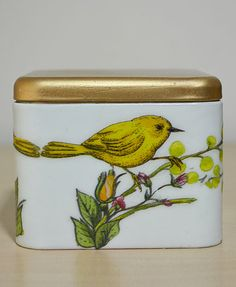 Adorable Decoupage Tin Box