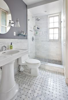 Half Wall Shower Design Ideas, for guest bath