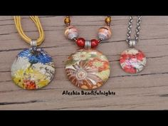 Love the pendants but especially love the handmade bail. Thank you Aleshia xox Glass Marble Picture Pendant Tutorial Paper Jewelry, Resin Jewelry, Glass Jewelry, Jewelry Crafts, Beaded Jewelry, Handmade Jewelry, Marble Jewelry, Bead Necklaces, Jewelry Making Tutorials
