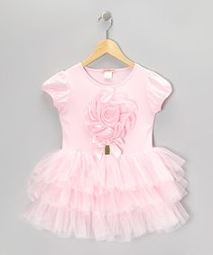 Take a look at this Pink Flower Tutu Dress - Toddler & Girls by Paulinie on #zulily today!