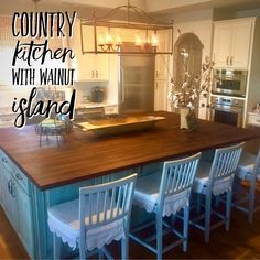 Wood Islands, Country Kitchen, Kitchen Island, Home Decor, Island Kitchen, Decoration Home, Room Decor, Home Interior Design, Home Decoration
