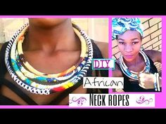 DIY   How To : African Print Choker   2016 Easy & Quick Tutorial - YouTube