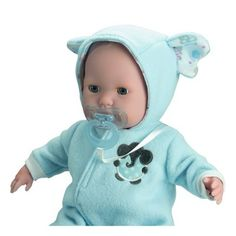 7d91244ec00 JC Toys Berenguer Boutique Soft Body 15 Open Close Eyes Baby Doll - Blue  with